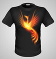 t shirts Black Fire Print man 13 vector image vector image