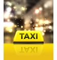taxi car on street at night vector image