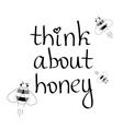 think about honey vector image