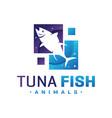 tuna logo design vector image vector image