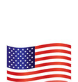 united states flag frame background vector image vector image