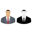 User icon of man in business suit vector image