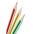 vector colored pencils vector image