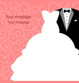 wedding card with clothes vector image vector image