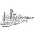 what is an unsecured loan text word cloud concept vector image vector image