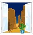 Window in desert vector image vector image