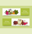 wine taste club banner glass vector image vector image