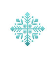 wintertime figure in white and blue vector image vector image