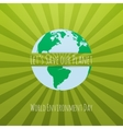 World Environment Day awareness Concept Template vector image vector image