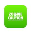 zombie horror icon green vector image vector image