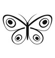 tiny butterfly icon simple style vector image