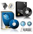 Software box vector image
