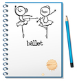A notebook with ballet dancers at the cover page vector image vector image