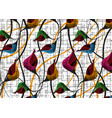 african wax print fabric colorful ethnic flowers vector image vector image