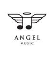 angel music logo vector image