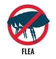 anti-flea emblem red and blue colours vector image vector image
