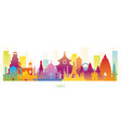 asia skyline landmarks colorful silhouette vector image vector image