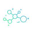 atom molecule icon design vector image vector image