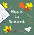 back to school - chalk inscription vector image vector image