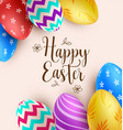 background with multicolored easter eggs vector image vector image