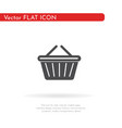 basket icon for web business finance and vector image