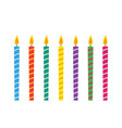 birthday candles set vector image vector image