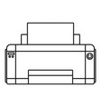 black ink printer icon outline style vector image