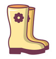 boots icon cartoon style vector image