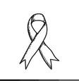 breast cancer awareness ribbon design vector image