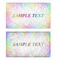 Business card border templates in rainbow colors vector image vector image