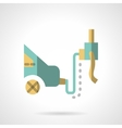 Car service flat icon Emission control vector image