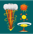 cartoon explosion boom effect animation game vector image vector image