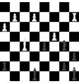 chess board seamless pattern background chessmen vector image