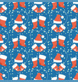 christmas seamless pattern hand drawn style vector image vector image