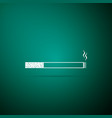 cigarette icon on green background smoking symbol vector image vector image