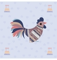 Cock bird ethnic pattern Birthday vector image vector image