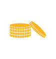 coins graphic icon design template vector image vector image