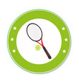 color circular frame with ball and tennis racket vector image vector image