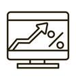computer digital growth arrow business financial vector image vector image