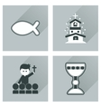 Concept of flat icons with long shadow vector image vector image
