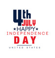 creative typographic emblem american national vector image vector image