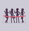 cutting red ribbon ceremony vector image vector image