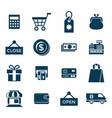 digital blue shopping sale vector image vector image