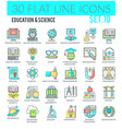 education science icons vector image vector image