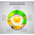Electricity infographics Tools in circles around vector image vector image