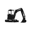 excavator silhouette design logo vector image