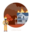 Fire in the house 2 vector image vector image