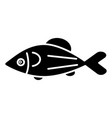 fish salmon icon black sign vector image
