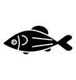 fish salmon icon black sign vector image vector image