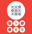 flat icon games set of arrow dice gomoku and vector image vector image